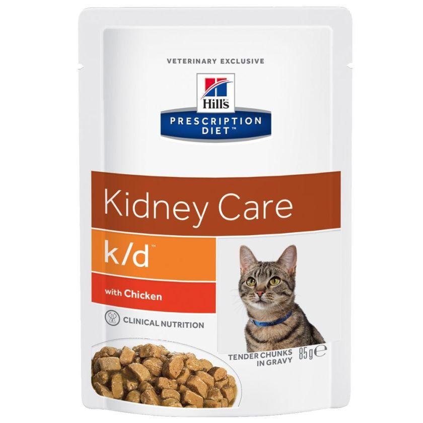 12x85g poulet k/d Kidney Care pour chat Hill's Prescription Diet