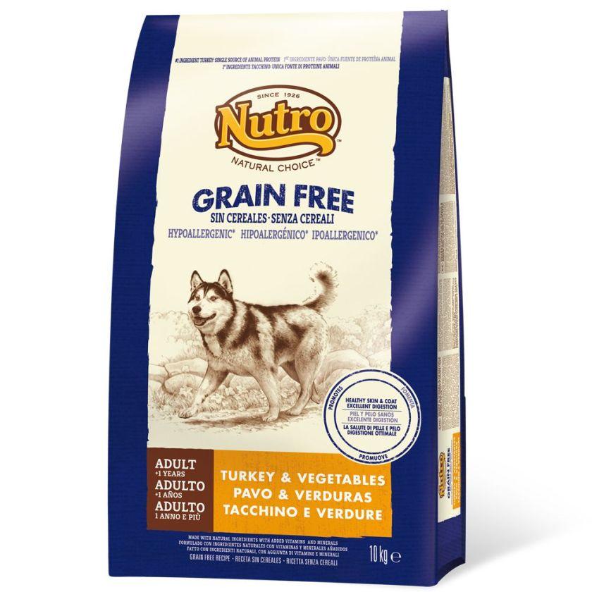 Nutro grain free Adult dinde pour chien - 2 x 10 kg