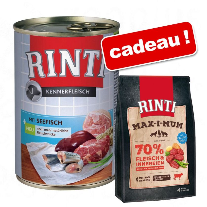 Rinti 12 x 400 g + 1 kg Rinti Max-i-mum bœuf offert ! - renne