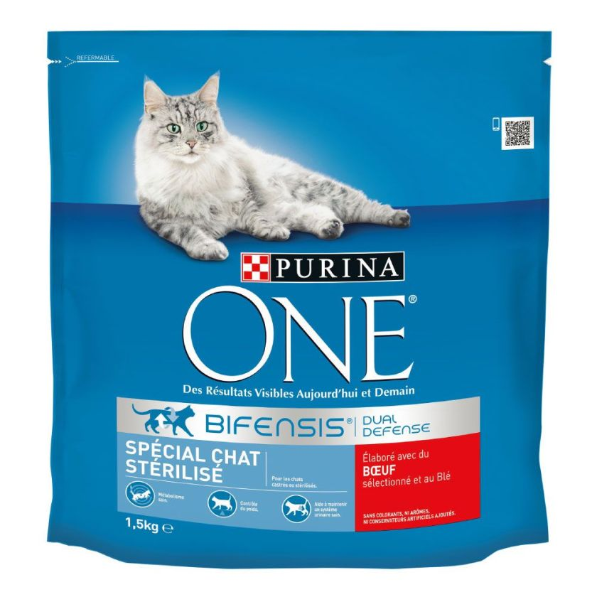 450g bœuf Chat Stérilisé PURINA ONE - Croquettes pour chat
