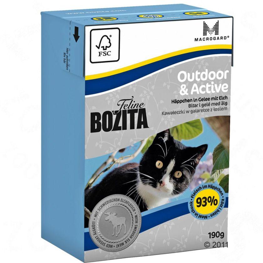 Bozita Bouchées en gelée 6 x 190 g pour chat - Outdoor & Active