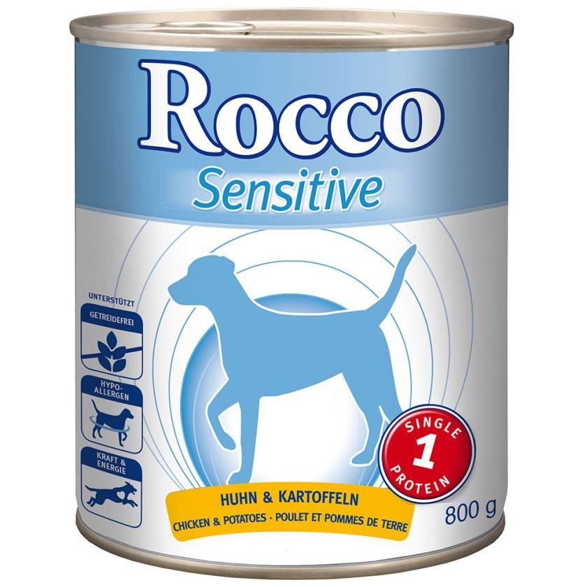 Rocco Sensitive 6 x 800 g pour chien - agneau, riz