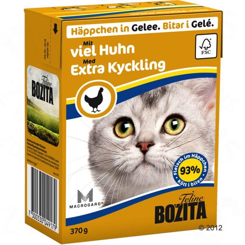 Bozita Bouchées en gelée 6 x 370 g pour chat - écrevisse