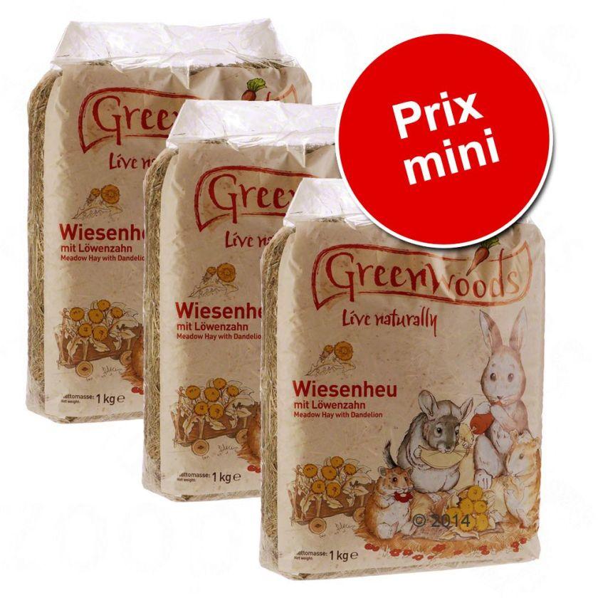 3kg pissenlit Greenwoods Foin de prairie - Foin pour rongeur et lapin