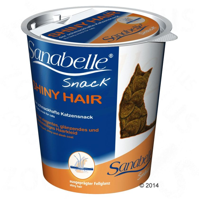 Sanabelle Shiny Hair pour chat - 3 x 150 g