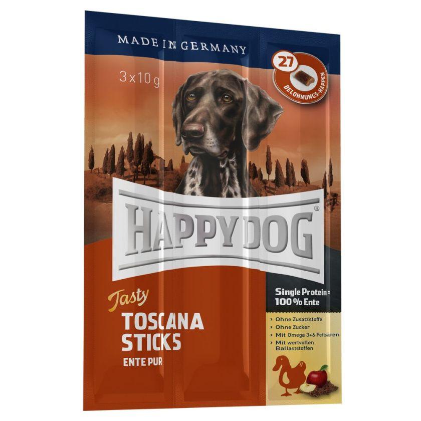 Happy Dog Tasty Toscane, bâtonnets pour chien - 3 x 10 g