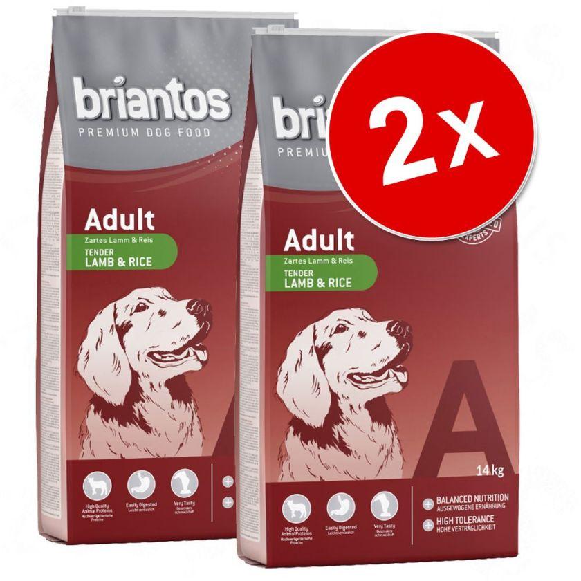 2x14kg Adult agneau + poulet Lot Briantos - Croquettes pour chien