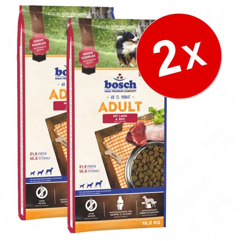 Lot Bosch pour chien - Adult agneau, riz (2 x 15 kg)