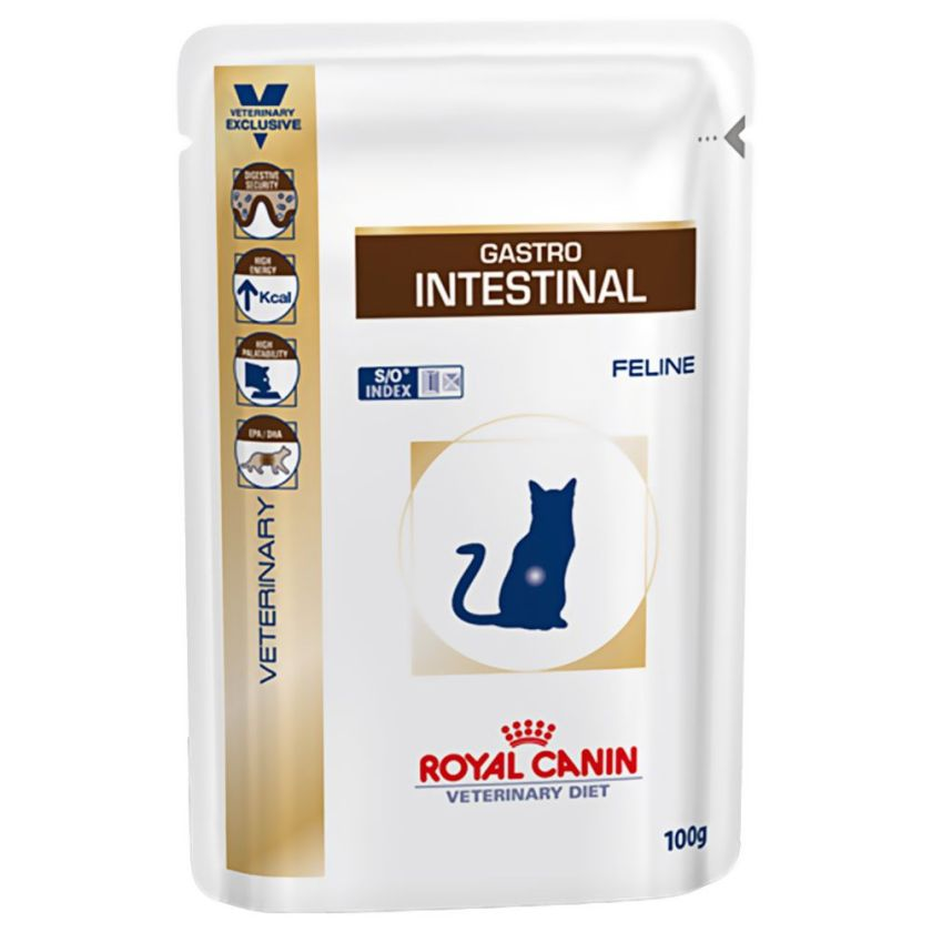 12x100g Gastro Interstinal Royal Canin Veterinary Diet Sachets pour chat