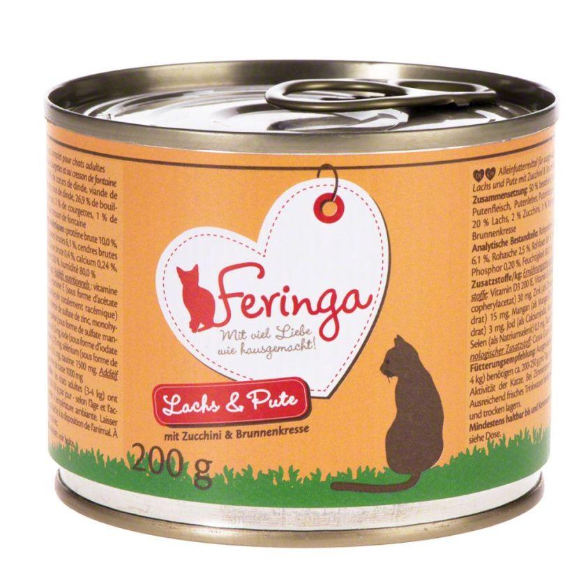 6x200g Menus Duo lapin, dinde, argousier, menthe à chat Feringa - Nourriture pour Chat