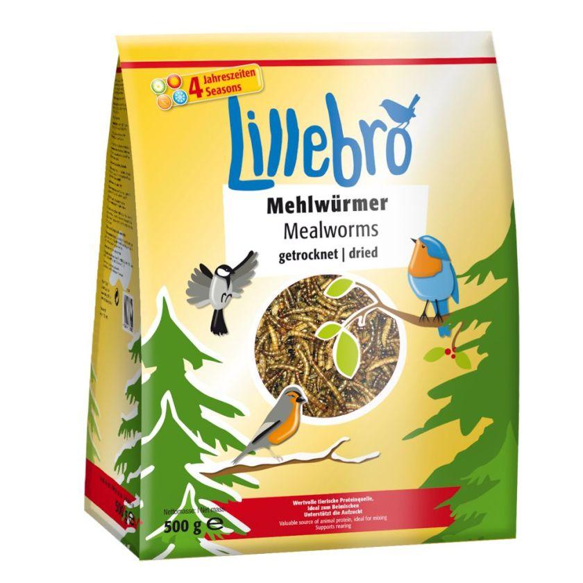 500g Vers de farine séchés pour oiseaux Lillebro - Alimentation pour oiseau