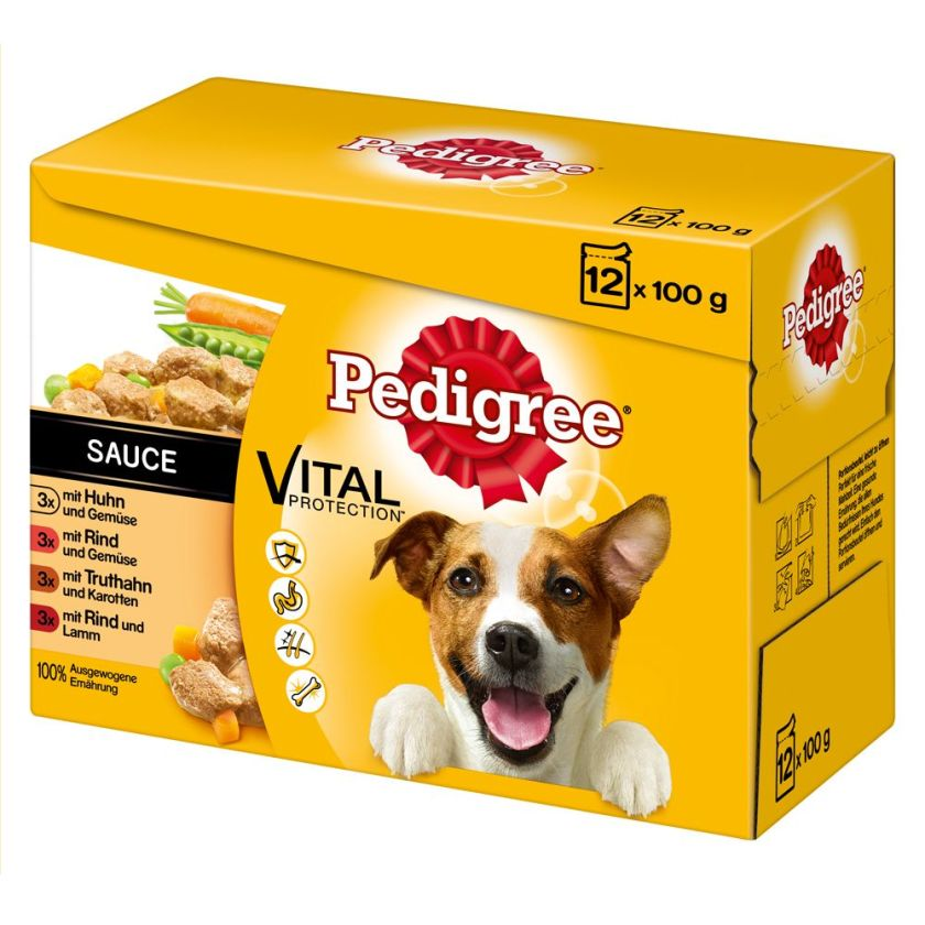 48x100g Sachets en terrine Pedigree - Nourriture pour chien