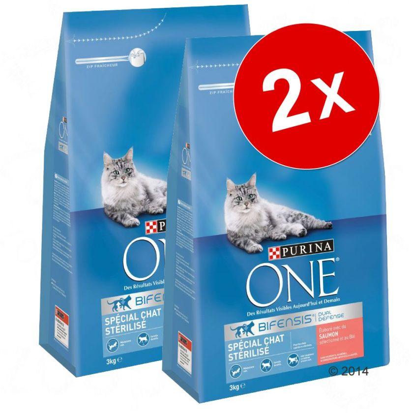 2x6kg Chat stérilisé boeuf blé PURINA ONE - Croquettes pour chat