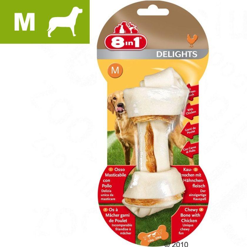 Os fourrés 8in1 Delights, poulet M - lot % : 3 x 70 g