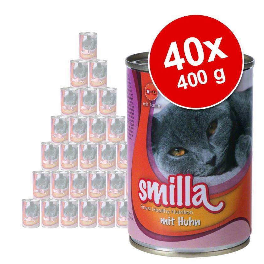 Lot Smilla 40 x 400 g pour chat - poulet