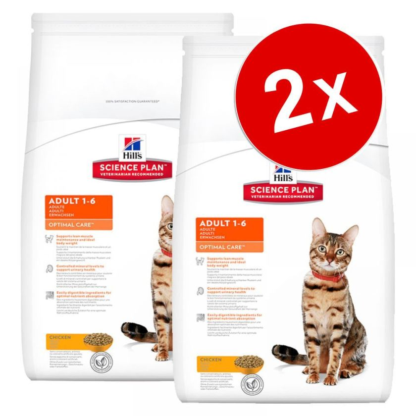2x5kg Adult 1-6 Optimal Care Light thon Hill's Science Plan pour chat