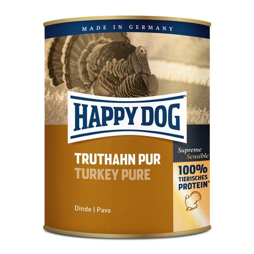 6x800g pur buffle Happy Dog - Nourriture pour chien