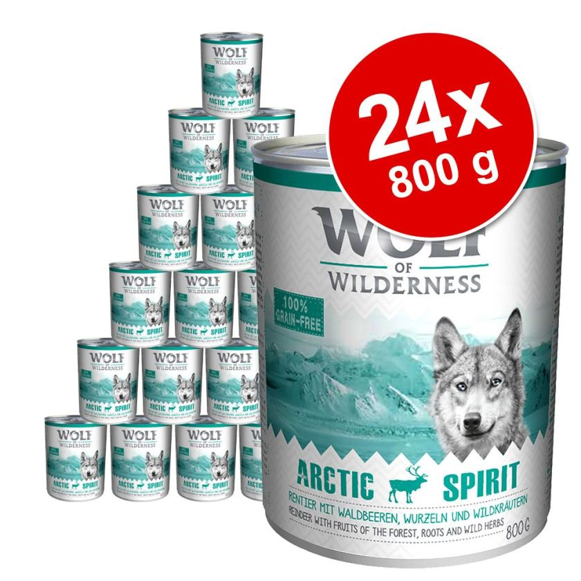 Lot Wolf of Wilderness 24 x 800 g pour chien - lot mixte