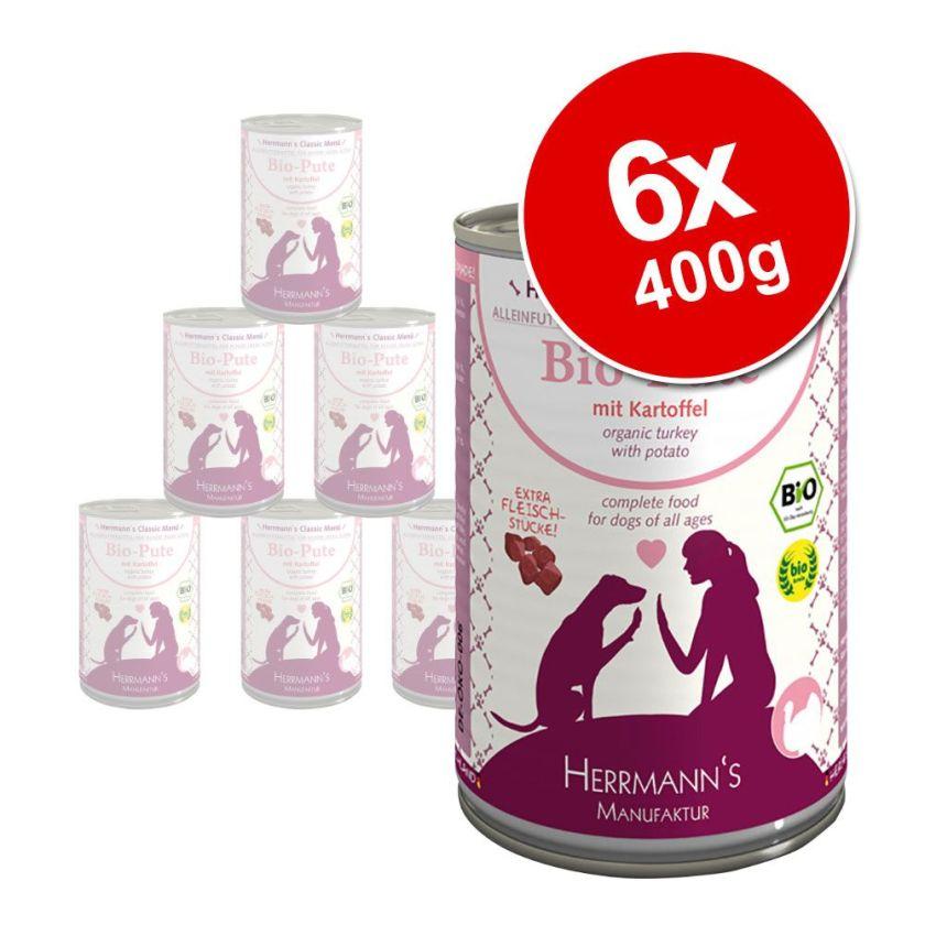 6x400g Sans céréales 3 saveurs Herrmann's - Nourriture pour chien
