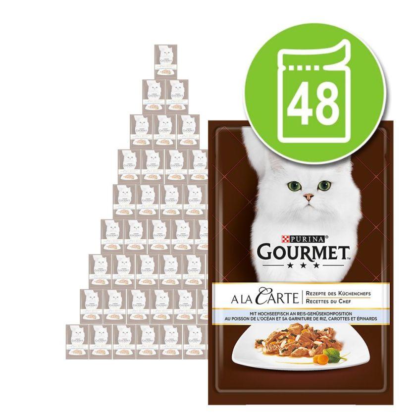 Gourmet A la Carte Boeuf 48 x 85 g - Sachets fraîcheur pour chat  Gourmet A la Carte