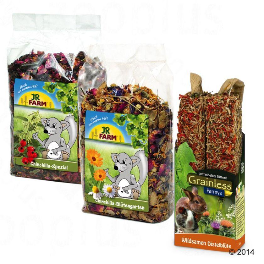 JR Farm Assortiment pour chinchilla - 2 x 690 g
