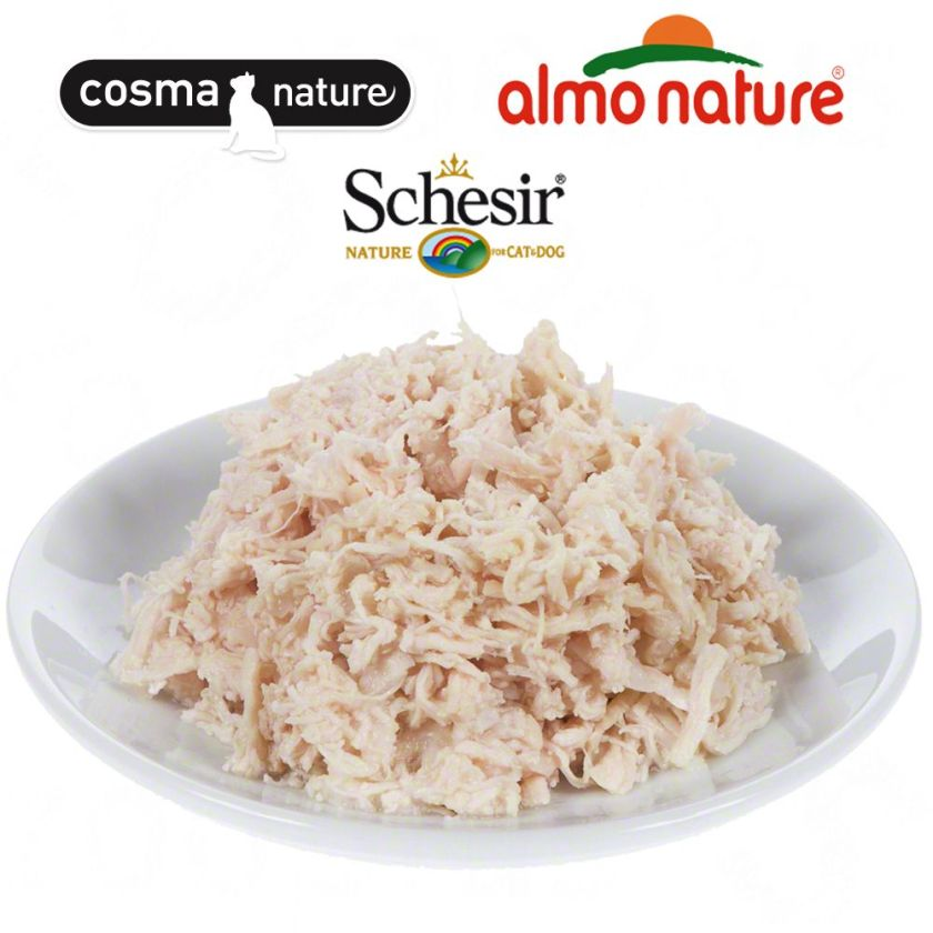 Test the best : nourriture saveur filet de poulet pour chat - Filet de poulet Almo Nature 6 x 70 g