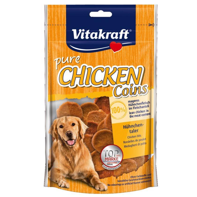 80g CHICKEN Rondelles de poulet Vitakraft - Friandises pour Chien
