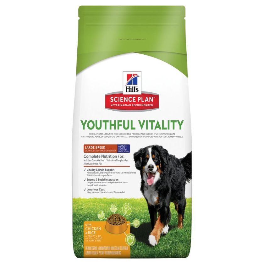 Hill´s Science Plan Canine 5+ Youthful Vitality Large Breed poulet, riz - 2,5 kg