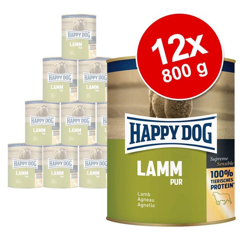 12x800g gibier Happy Dog - Nourriture pour chien
