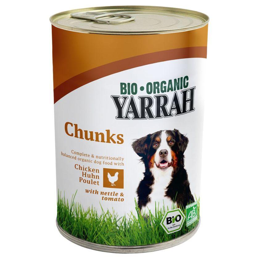 6x820g Yarrah Bio poulet pour chien