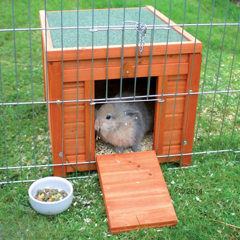 Maisonnette rongeur et lapin L50xl60xH47 cm - Natura maisonnette pour rongeur et lapin