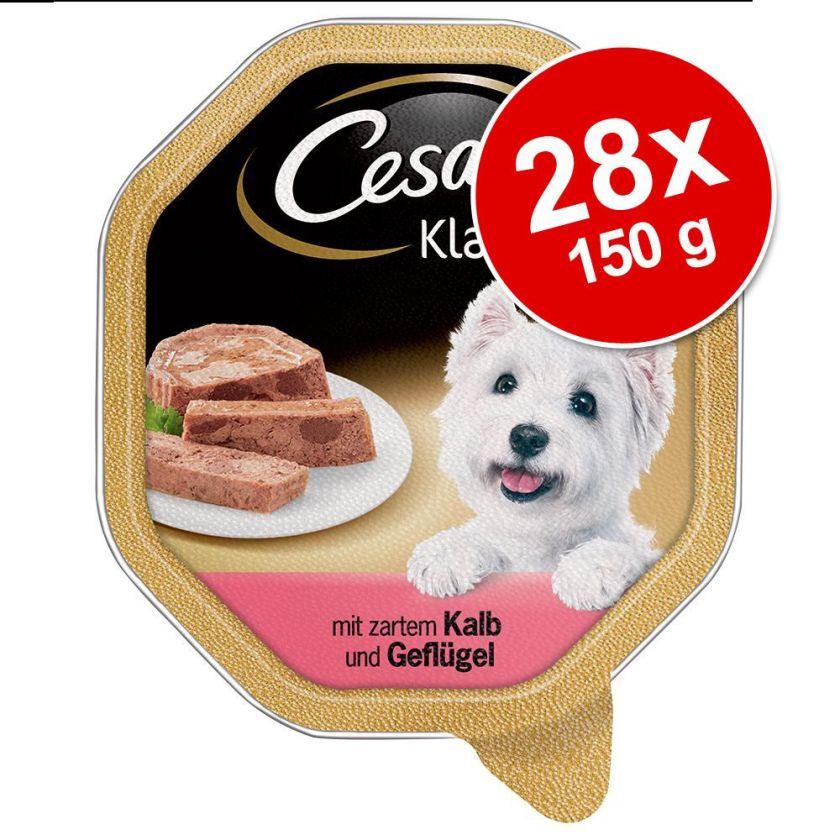 28x150g Les Recettes de Campagne dinde riz en sauce Cesar - Nourriture pour chien
