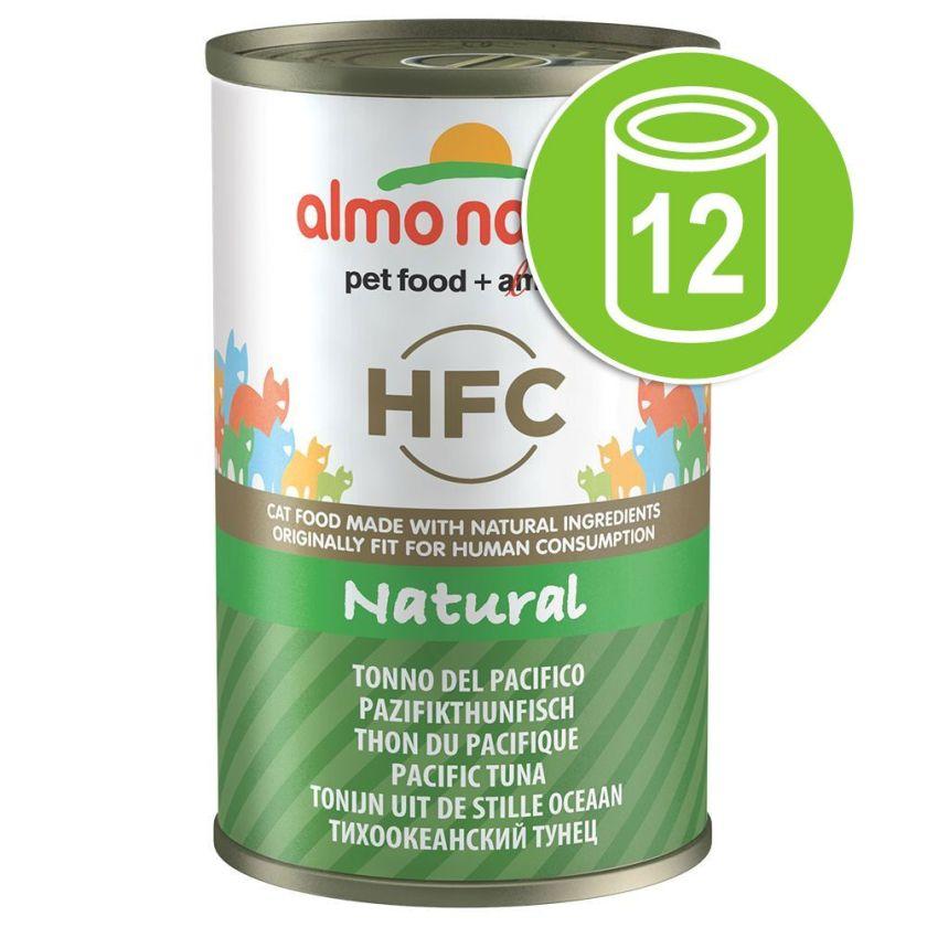 Lot Almo Nature HFC 12 x 140g pour chat - thon du Pacifique