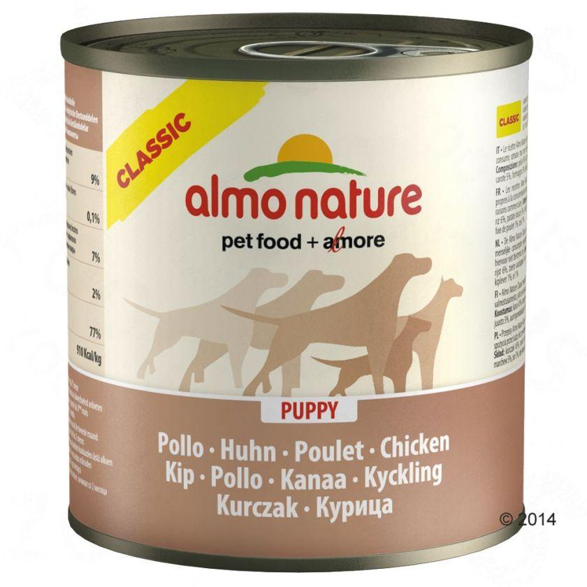 Almo Nature Classic 6 x 280 g / 290 g pour chien - bœuf, jambon (290 g)