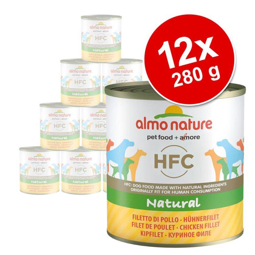 12x290g veau, jambon Almo Nature Classic - Nourriture pour chien