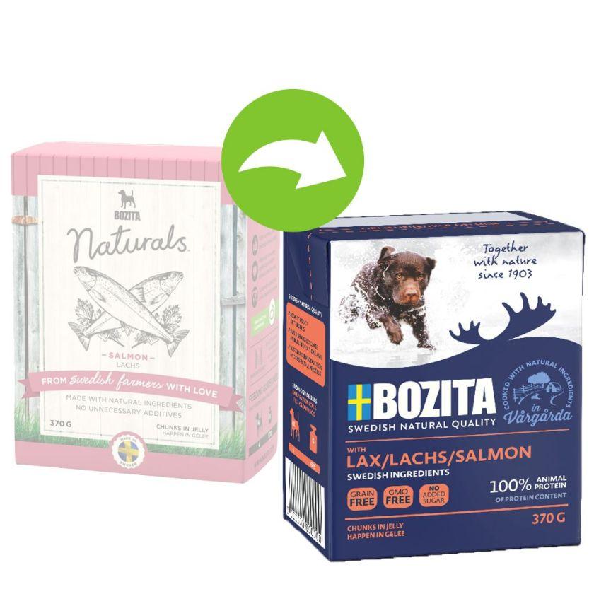 24x370g saumon Bouchées en gelée Bozita - Nourriture pour chien