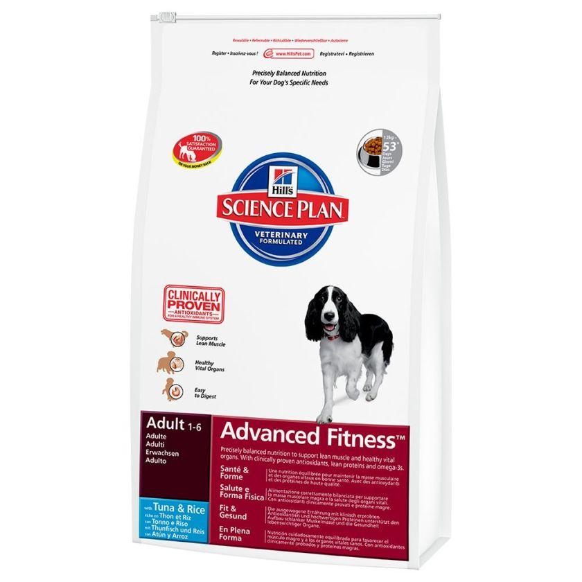 Hill´s Adult Advanced Fitness thon, riz pour chien - 12 kg