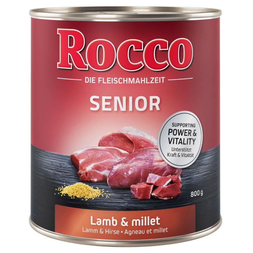 6x800g Senior agneau, millet Rocco - Nourriture pour chien