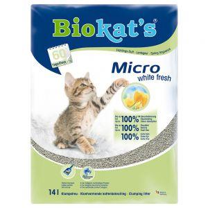 Litire Biokats Micro White Fresh Pour Chat