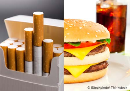junk food and cigarette connection