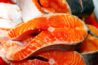 Salmon is a rich source of Astaxanthin