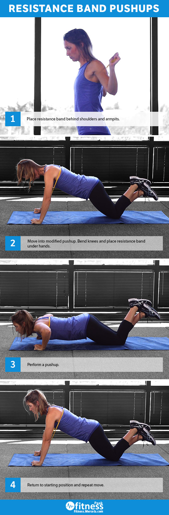 resistance band pushups