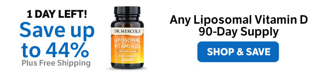 Save up to 44% on any Liposomal Vitamin D 90-Day Supply