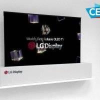 LG muestra una pantalla OLED 4K capaz de enrollarse #CES2018