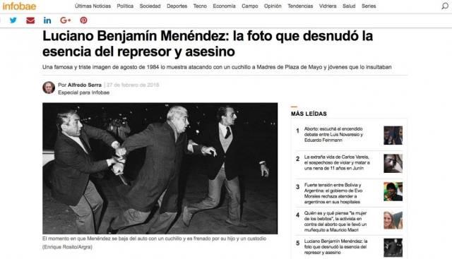 Infobae Luciano Menéndez