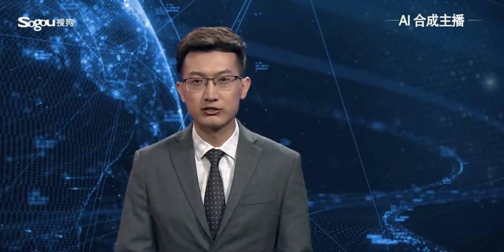 China crea su primer presentador de noticias virtual con Inteligencia Artificial