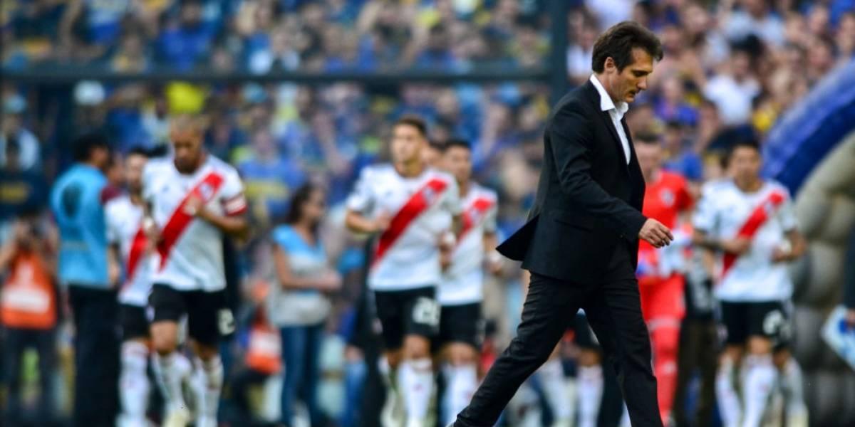 Guillermo Barros Schelotto, allenatore del Boca dal 2016. Dopo due campionati vinti in Argentina ha tentato di portare il Boca a vincere la Copa Libertadores dopo l'ultimo trionfo degli Xeneizes nel 2007. Foto: Getty Images.