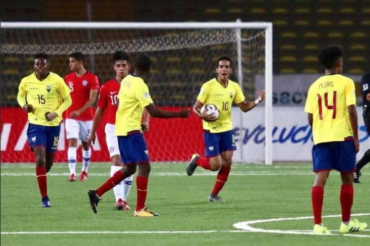 el delantero Johan Mina que anotó tres goles para Ecuador