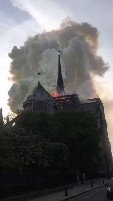 Redes sociales reaccionan: Incendio afecta a catedral de Notre Dame, símbolo de la ciudad de París