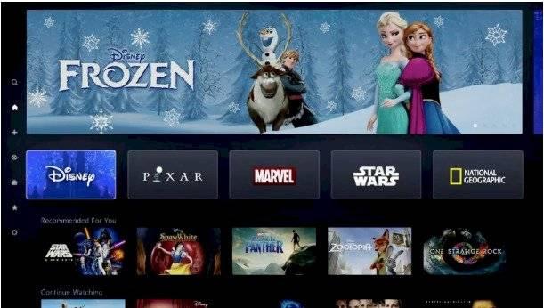 Así se verá la página de Disney+